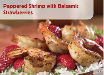 Peppered Shrimp with Balsamic Strawberries