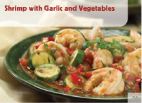Shrimp with Garlic and Vegetables