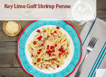 Key Lime Gulf Shrimp Penne