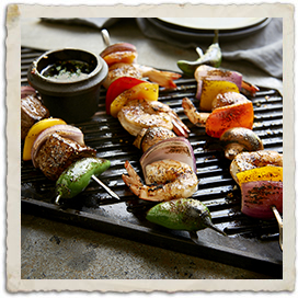 Quick Texas Wild Caught Shrimp and Sirloin Kabobs