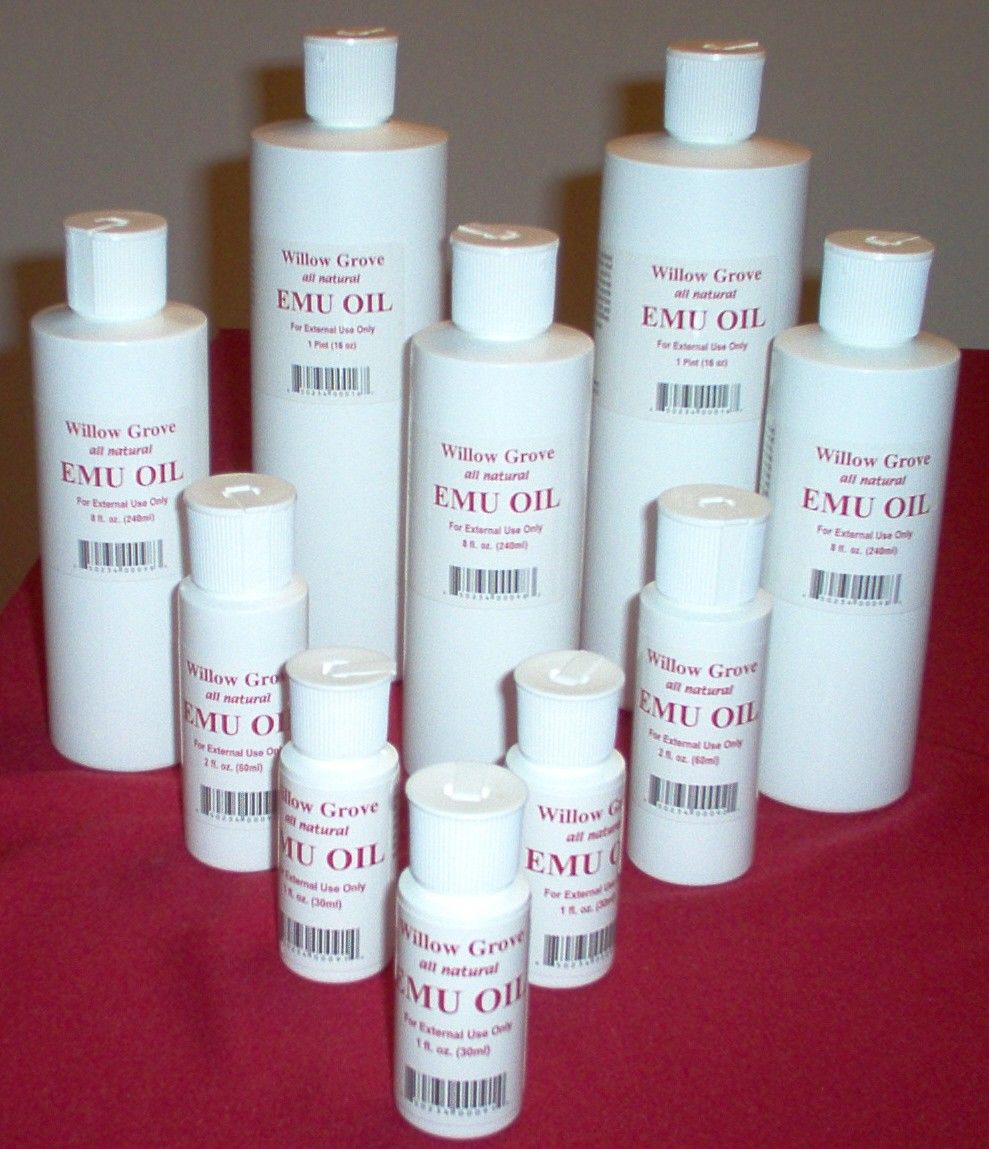 emu oil botles